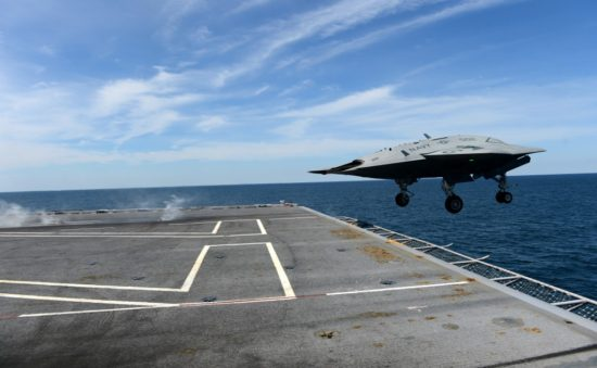 Amerikaanse X-47B 'Unmanned Combat Air System'